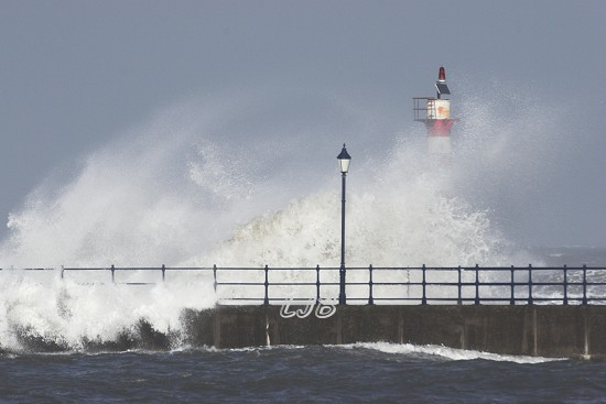 Amble Pier Lighthouse, Northumbrian Coast.