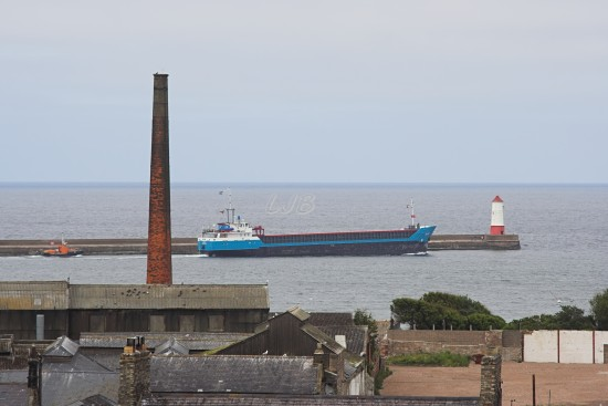 Ship leaving River Tweed.