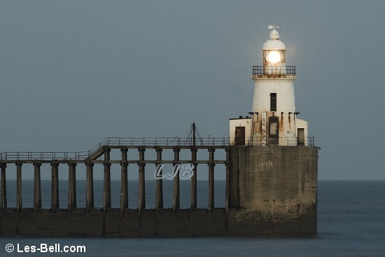 Blyth East Pier Lighthouse.