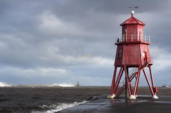Herd Groyne Lighthouse, River Tyne, South Shields.